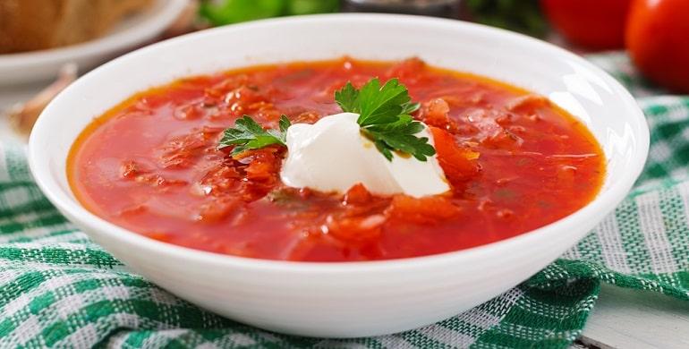Как сварить борщ из свежей капусты с мясом и свеклой без зажарки?