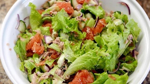 Салат для похудения с грейпфрутом на сжигание жира