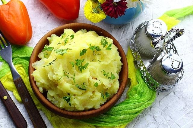Низкокалорийное картофельное пюре без молока и сливочного масла